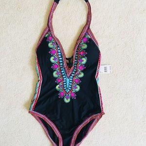 a8b349a0163 Trina Turk Swim - NWT Trina Turk dashiki one piece v-neck swimsuit🌸